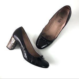 [Anyi Lu] Patent & Snakeskin Handmade Block Heels